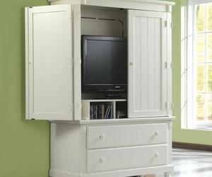 white and tv armoire image