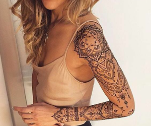 arm, tattoo, and henna design image