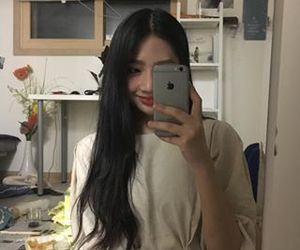 asian, girl, and mirror image