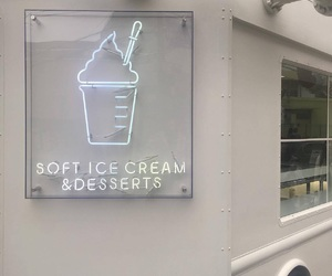 aesthetic, ice cream, and white image