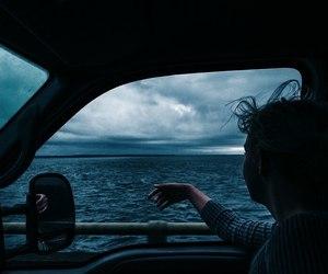 sea, car, and ocean image