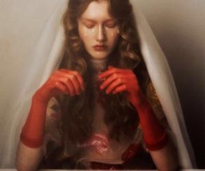 art, beauty, and veil image