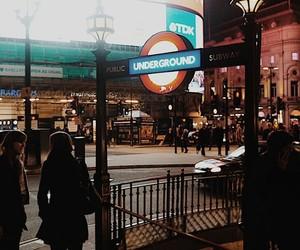 lights, london, and nightlife image