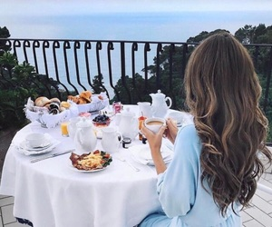 breakfast, hair, and view image