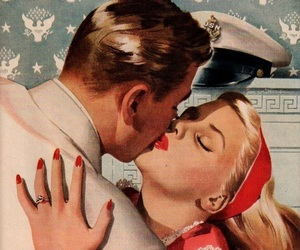 drawings, retro, and vintage love image