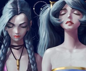 jinx, league of legends, and sona image