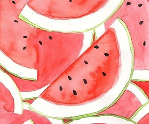 watermelon, summer, and food image