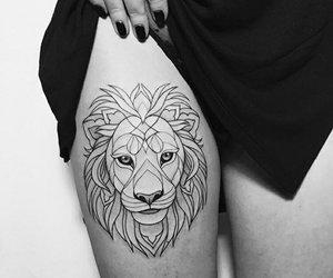 tattoo, lion, and animal image