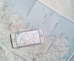 freedom, iphone, and map image