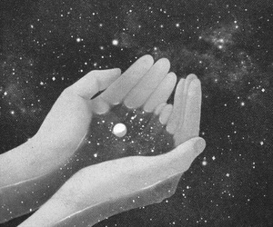 art, hands, and stars image