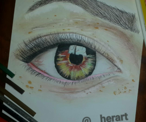 art, colour pencils, and colourful image