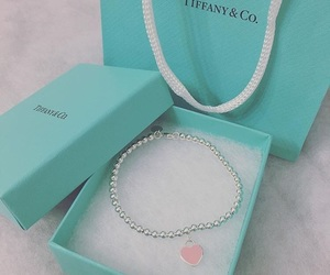 bracelet, heart, and mint image