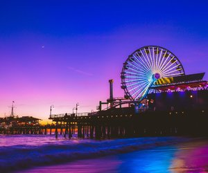 beach, travel, and california image
