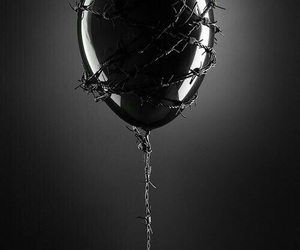 black, dark, and balloon image