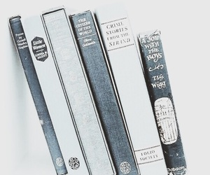 blue, aesthetic, and books image