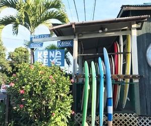 hawaii, surf, and travel image