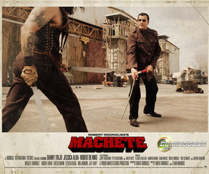 grindhouse, machete, and poster image