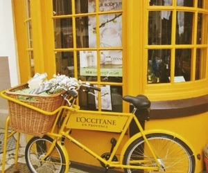 yellow, tumblr, and bike image