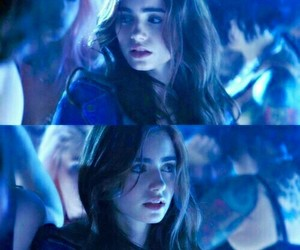 clary fray, lily collins, and blue image