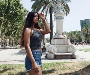 Barcelona, denim, and tourism image