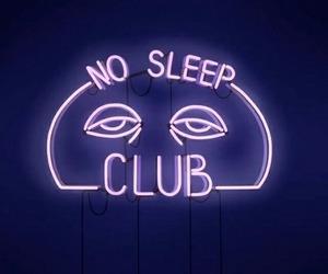 neon, sleep, and purple image