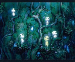 princess mononoke and kodama image