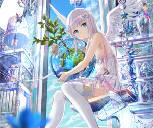 angel, anime, and girl image