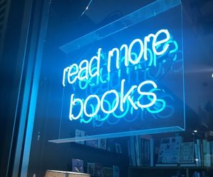 blue, read more books, and books image