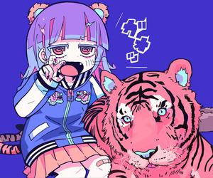 anime girl, colorful, and kawaii image