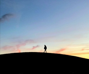 alone, beautiful, and silhouette image