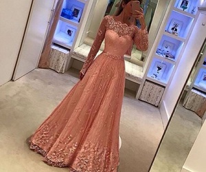 dress, style, and pink image