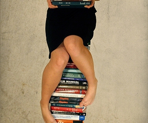 books, legs, and x007 image