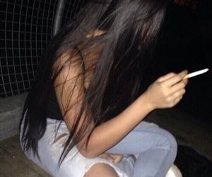 smoke, girl icon, and tumblr girl image