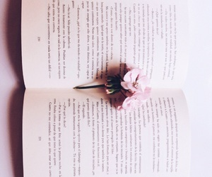 aesthetic, bookstore, and flowers image