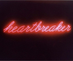 heartbreaker, neon, and red image