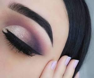 makeup, purple, and pink image