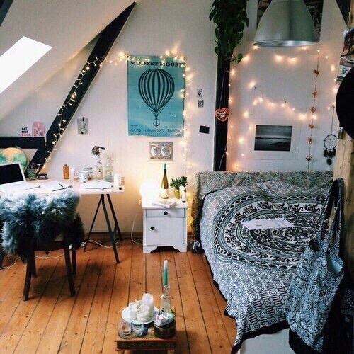 Alt Alternative Bedroom Deco Decoration Girly Room Girly Things Hipster Indie Inspiration Light Lights Room Room Ideas Rooms
