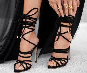 fashion, strappy, and strappy heels image