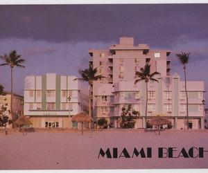 beach, Miami, and vintage image