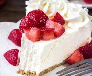cake, cream, and dessert image