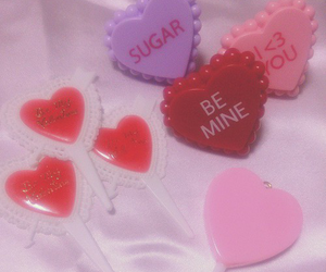 be mine, hearts, and sugar image