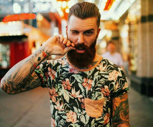 beard, boy, and style image