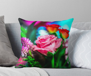 flower, rainy day, and throw pillows image