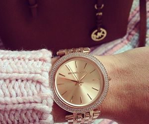 Michael Kors, watch, and rosegold image
