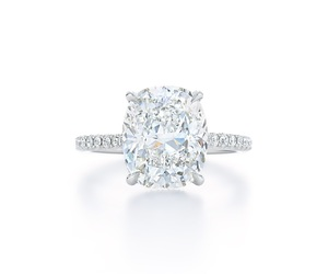 cushion, solitaire, and diamond image