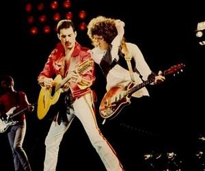 Freddie Mercury and brian may image