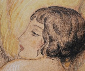 art, bobbed hair, and Gerda Wegener image