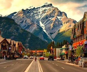 canada, mountains, and city image