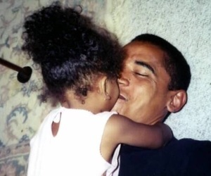 cute, daughter, and obama image