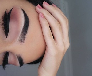 eyes, maquillage, and nails image